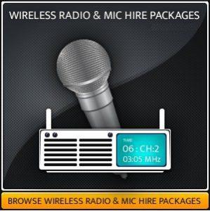 Wireless Handheld Radio Microphones Hire