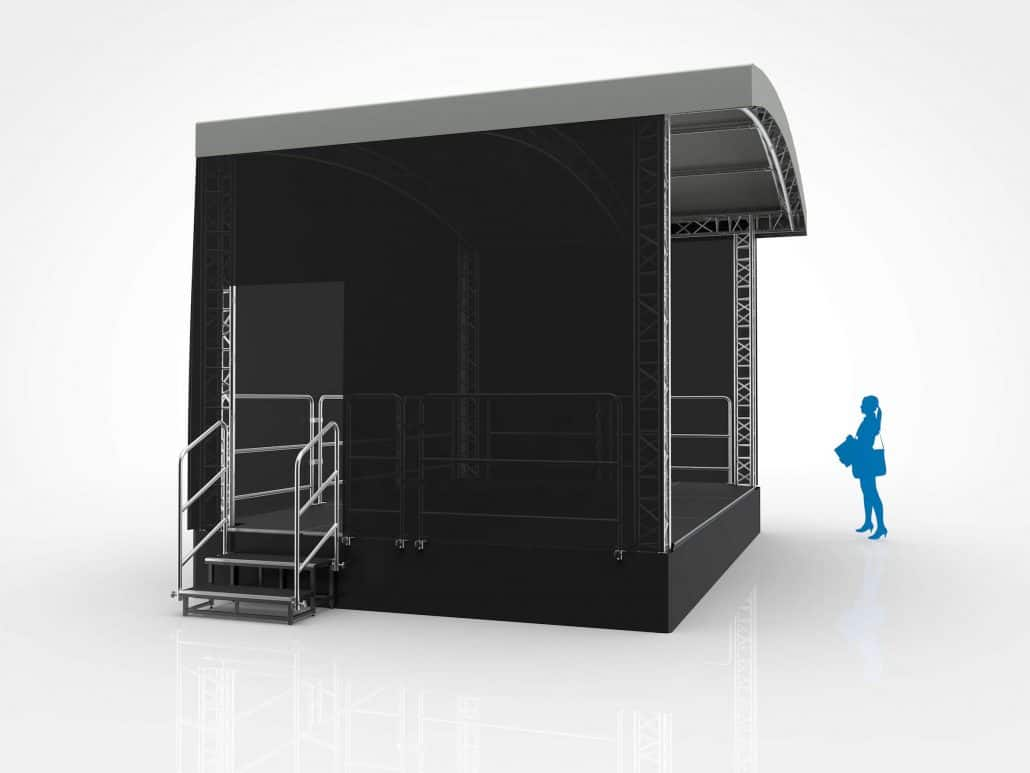 6 Meter X 4 Meter Arc Roof Stage Hire 6m X 4m Arc Roof