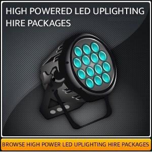 LED Uplighting Hire Equipment in Surrey