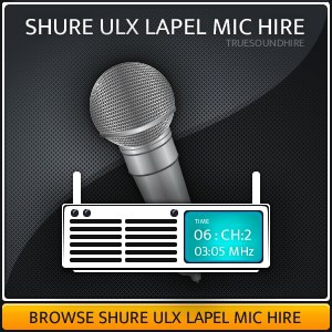 Shure ULX Lapel Mic hire