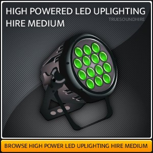 High Powered LED Uplighting HIre Packagaes Medium