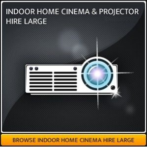 Indoor Home Projector & Screen Hire Package