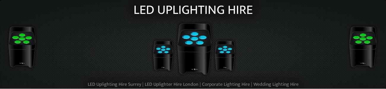 LED UPLIGHTING HIRE