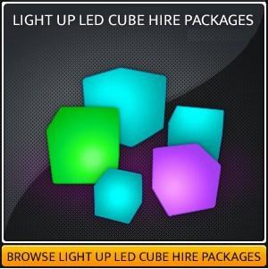 Hire a LED Light Up Cube