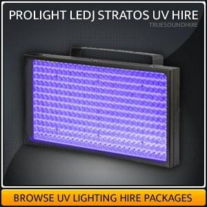 Prolight LEDJ Stratos UV light Hire