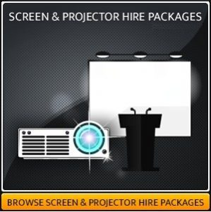 Screen & AV Projector Hire Package
