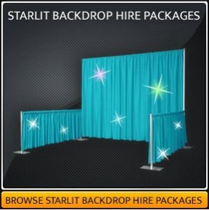 Starlit Backdrop Hire Package