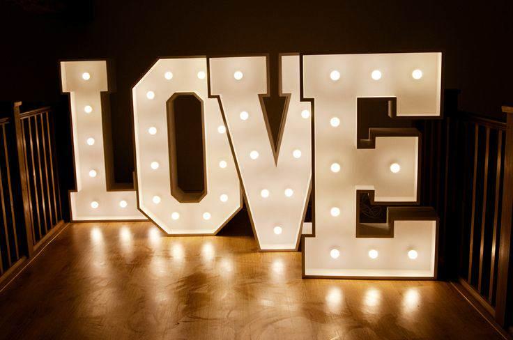 Wedding Love Letter Hire Illuminated Letter Hire Surrey Wedding